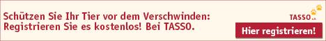 Werbebanner Tasso - Kostenlose Tierregistrierung